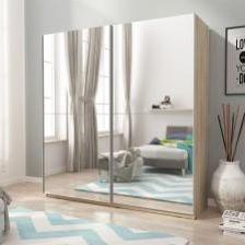 Meblefiranypl Szafa Przesuwna Mika Iii 150 Premium Sonoma Opinie I Atrakcyjne Ceny Na Ceneopl