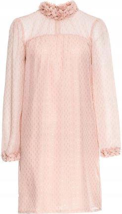 0019dbd82 Sukienka szyfonowa w kwiaty różowy 40 L 956228 Allegro