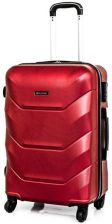 2b37aa7b681c6 Duża walizka podróżna poliwęglan kabinówka 720 czerwona DIAMENT ...