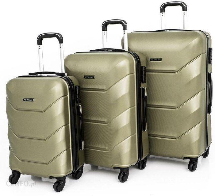 94a12c0336db6 Komplet walizek 720 poliwęglan 3w1 zestaw szampański DIAMENT - zdjęcie 1