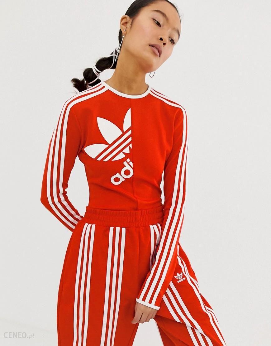 Adidas Originals x Ji Won Choi high neck three stripe body in red Red Ceneo.pl