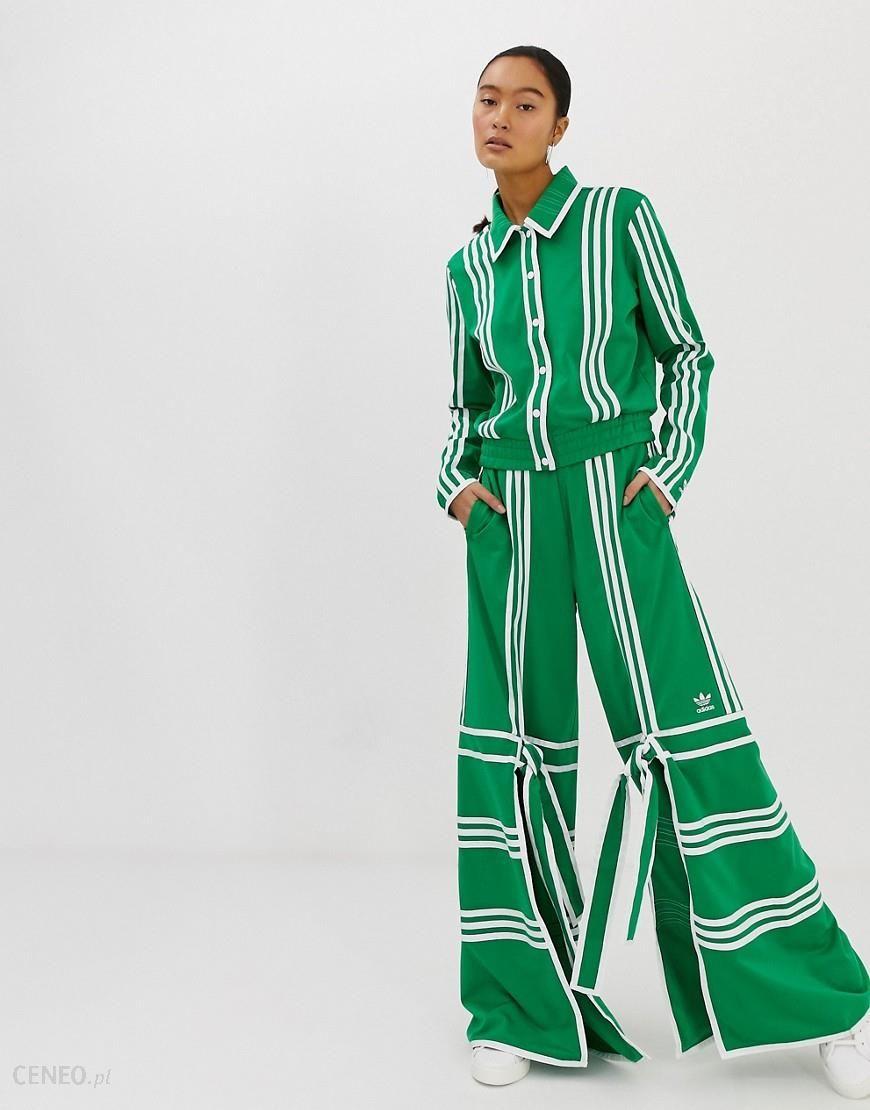 adidas Originals x Ji Won Choi split front track pants in green Green