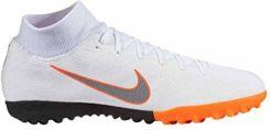 size 40 ec505 85a26 Amazon Nike superflyx 6 Academy TF – White MTLC Cool Grey-Total ORA, kolor   biały, rozmiar  -