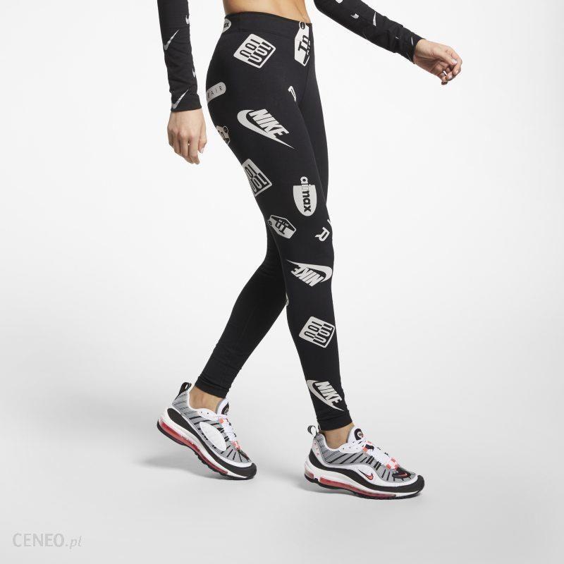 Damskie legginsy z nadrukiem Nike Air Max Leg A See Czerń Ceny i opinie Ceneo.pl