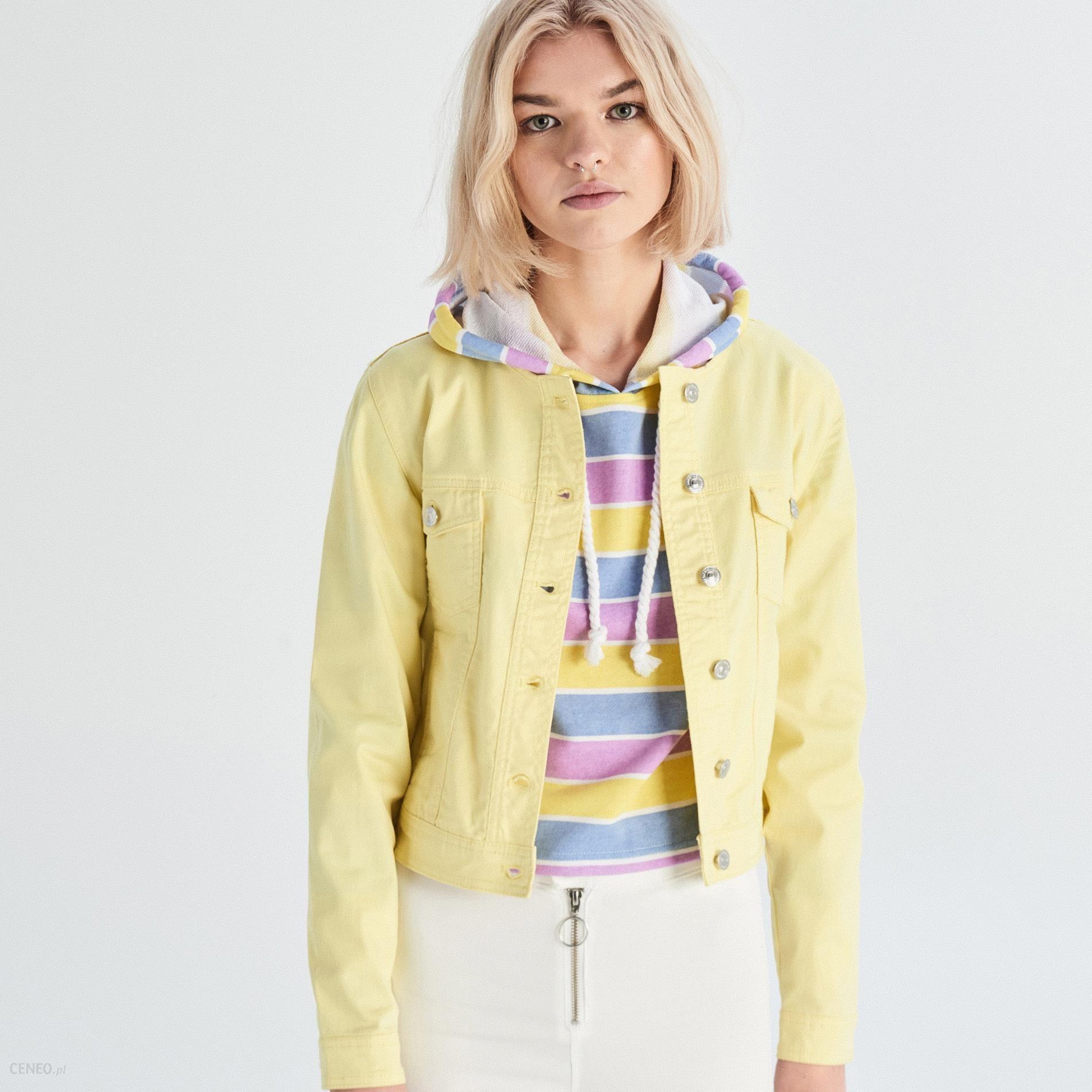 żółta kurtka jeansowa damska