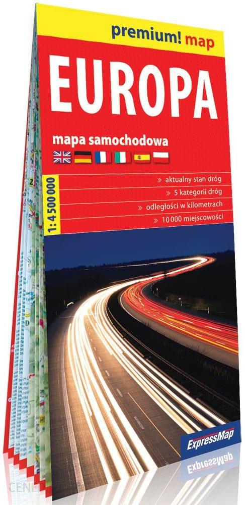 Premium Map Europa Kartonowa Mapa Samochodowa 1 4 500 000
