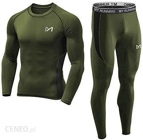 07cf42cb001409 Amazon Meetyoo koszulka kompresyjna męska, odzież sportowa, długie spodnie  kompresyjne, dres treningowy,