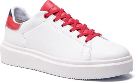 a4162e78985 Sneakersy TOMMY HILFIGER - Luxury Corporate Sneaker FM0FM02182 White Tango  Red 901 eobuwie