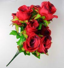 8d953f69c4ad5e Goliat Sztuczne kwiaty bukiet 9 róż czerwone