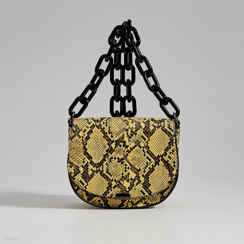 ab229a00dacca Mohito - Torebka saddle bag z imitacji wężowej skóry Gold Label -  Wielobarwn - zdjęcie 1