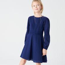 6b4ca9d43b Reserved - Sukienka z bawełny organicznej - Granatowy ...