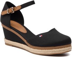 9214b44ce1946 Espadryle TOMMY HILFIGER - Iconic Elba Basic Closed Toe FW0FW02838 Black  990 eobuwie