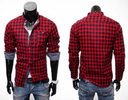 XL Męskie Koszule w Kratę, Różne Kolory Ceny i opinie  SC0QN