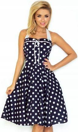 9280e8755d Piękna wiosenna Sukienka Pin Up w kropki 30-20 Uni Allegro