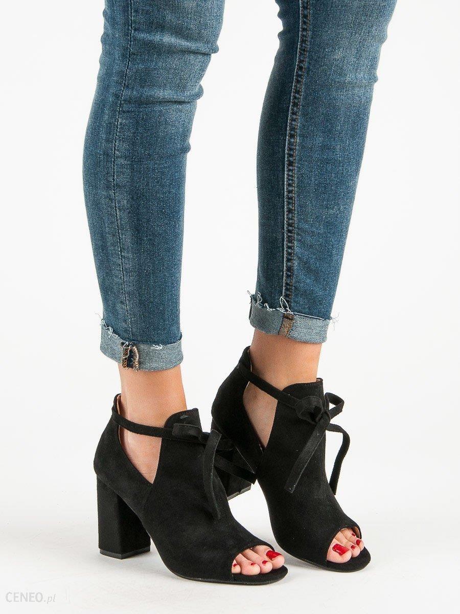 Zabudowane Sandały Na Słupku VINCEZA czarne | Sandały