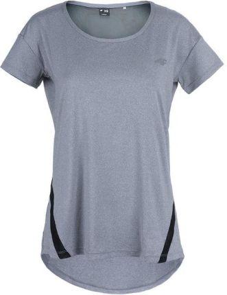 0e5a636fa6 T-shirt funkcyjny damski H4Z18 TSDF003 4F (chłodny jasny szary melanż)