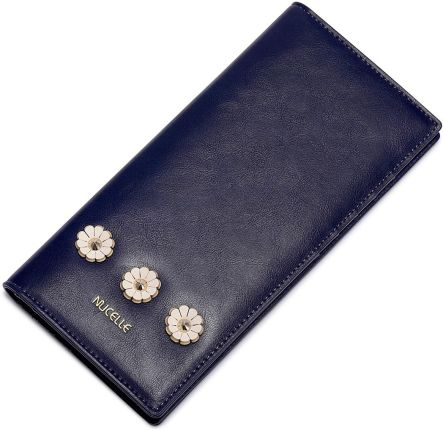 de3ec9f0b863d NUCELLE Długi portfel z perełką Niebieski - Ceny i opinie - Ceneo.pl