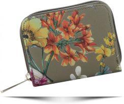 bfed15c75c38b Modne Portfele Damskie we wzór kwiatów marki David Jones Multikolorowe  Khaki (kolory) ...