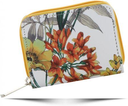 7424c8884cce7 Modne Portfele Damskie we wzór kwiatów marki David Jones Multikolorowe  Żółte ...