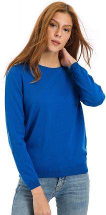 0bdb71fdfc4a58 Mohito - Elegancki sweter z elementami koszuli - Niebieski - Ceny i ...