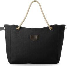 a0f8af9a5df65 Eko torba torebka damska łódka shopperbag płócienna - czarna - zdjęcie 1