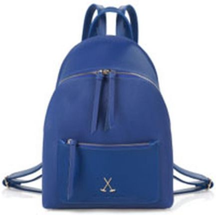 e9690c1efcb41 Niebieski plecak ze skóry ekologicznej Beverly Hills Polo Club Fran