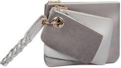 5b021125ed715 Zestaw 3 kopertówek w kolorze srebra ze skóry ekologicznej Beverly Hills  Polo Club Clara