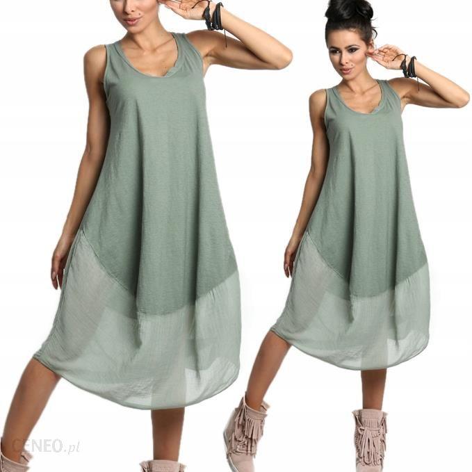 36292dd4 Luźna sukienka Boho bawełna midi 607 Kolory - Ceny i opinie - Ceneo.pl