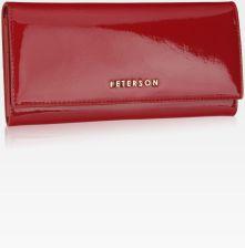 5d2d789df2213 Portfel Damski Skórzany PETERSON Duży Elegancki Pojemny System RFID  Czerwony 467