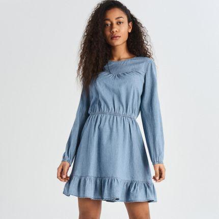 982b96deaa Sinsay - Jeansowa Sukienka - Niebieski Vf66650J ...