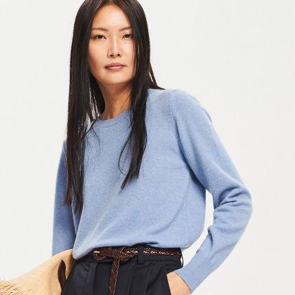 47b7f2e9ba Reserved - Sweter z wełny i kaszmiru - Niebieski ...