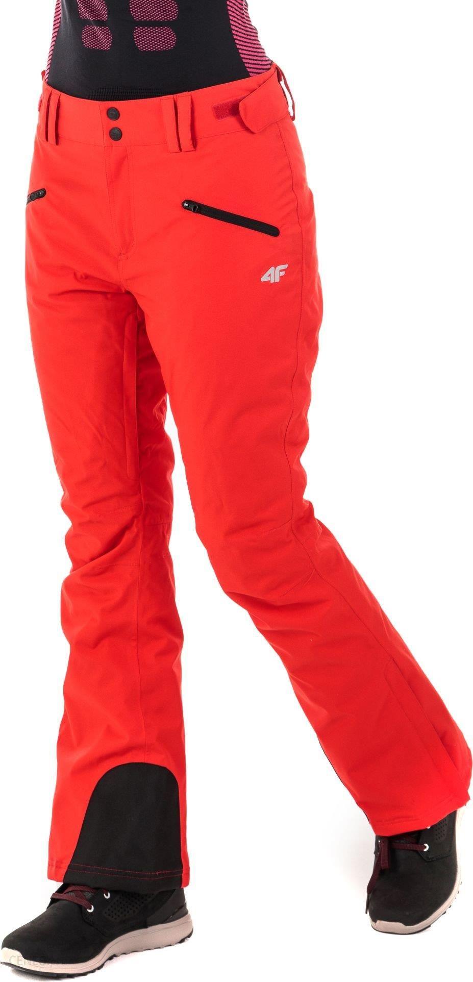 4f Spodnie Narciarskie Damskie H4z18 Spdn002 Czerwone Ceny I Opinie Ceneo Pl