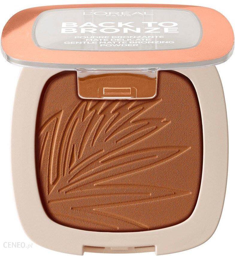 L Oreal Paris Back To Bronze Gentle Matte Bronzing Powder Bronzer Do Twarzy 02 Sunkiss 9g Opinie I Ceny Na Ceneo Pl