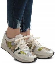 f6a42d7c2 Białe sneakersy trampki koturny buty T025 40 - Ceny i opinie - Ceneo.pl
