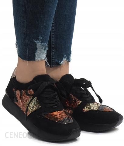 8a012e7b62565 Czarne sneakersy trampki koturny buty T025 38 - Ceny i opinie - Ceneo.pl