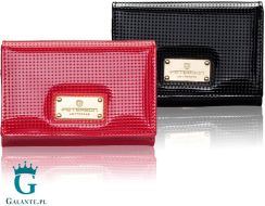 1607f1aa9171c Mała portmonetka damska czarna lub czerwona PETERSON PD445