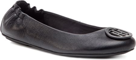 a7d1bd87f3a31 Baleriny TOMMY HILFIGER - Flexible Leather Ballerina FW0FW04073 Black 990  eobuwie
