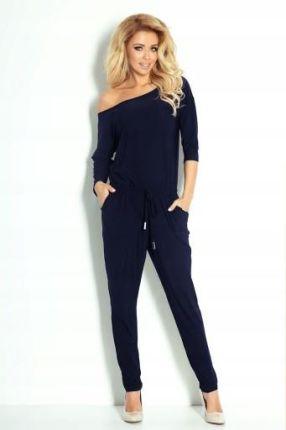 003d4676ba Bien Fashion Wieczorowy kombinezon damski z długimi nogawkami ...