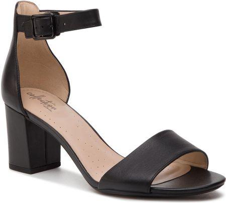Sandały CLARKS Laureti Grace 261401604 Black Leather Sandały damskie czarne w eobuwie.pl