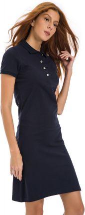 a7490e67e2 Podobne produkty do Kartes Moda Czarna Elegancka Sukienka z Założeniem  Kopertowym. Galvanni sukienka damska Mors L ciemny niebieski