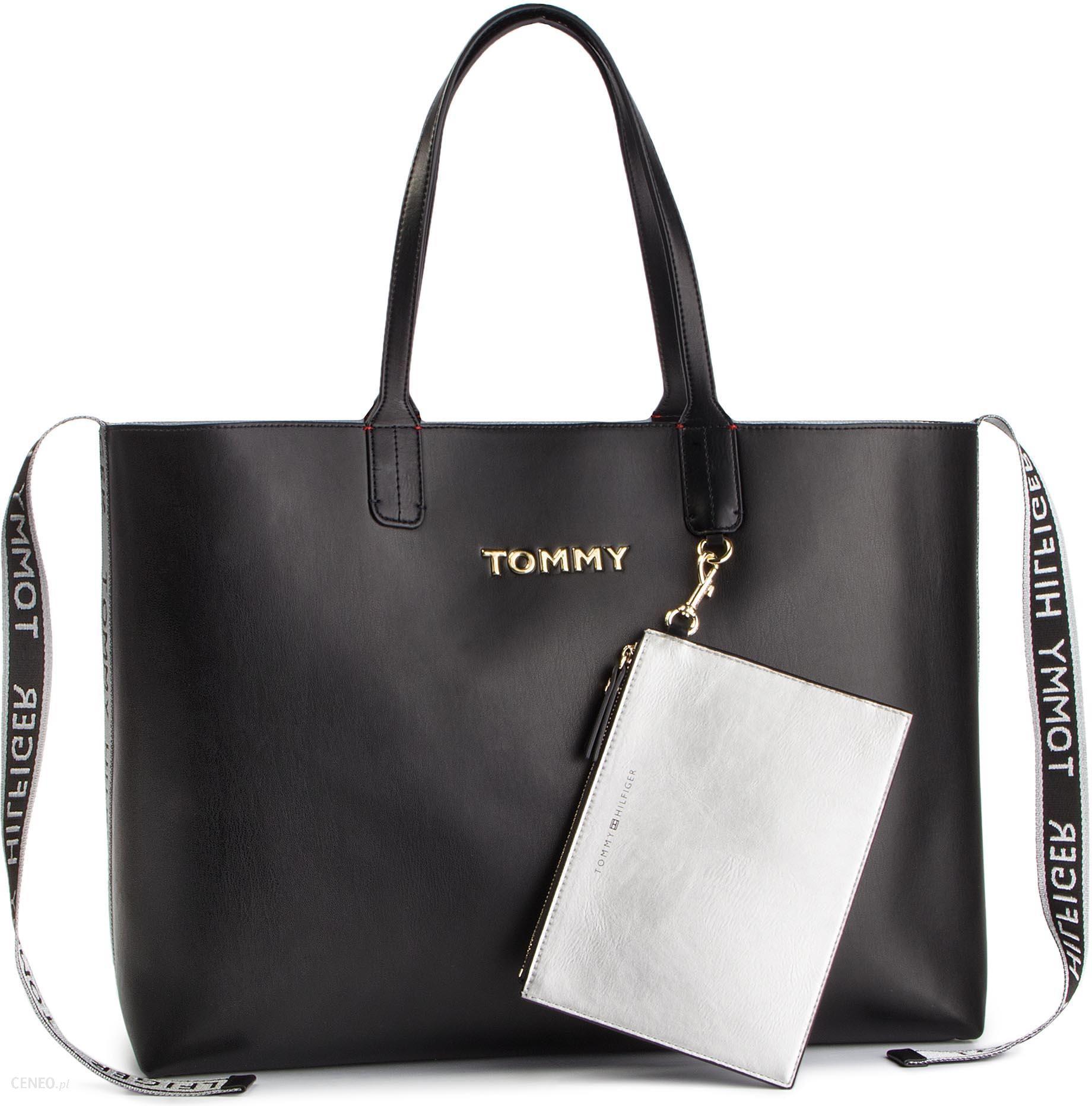 f6f693746 Torebka TOMMY HILFIGER - Iconic Tommy Tote AW0AW06446 002 - Ceny i ...