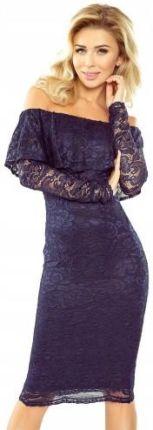 aa29b7f3f6 Morimia MM 021-2 Sukienka koronkowa - hiszpanka z długim rękawkiem ...
