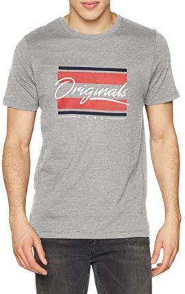 22f42c3bccfa58 Amazon JACK & JONES męski t-shirt Jorantwon Tee Ss Crew Neck - krój  dopasowany