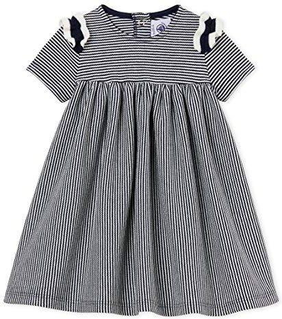a5085c1d1f Amazon Petit Bateau sukienka baseballowa dla dziewczynek - z dzianiny -  zdjęcie 1