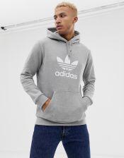Zip hoodie with small trefoil logo black dv1551 black, , XS XXL (adidas Originals)