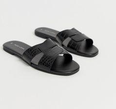 New Look cross strap flat slider sandal