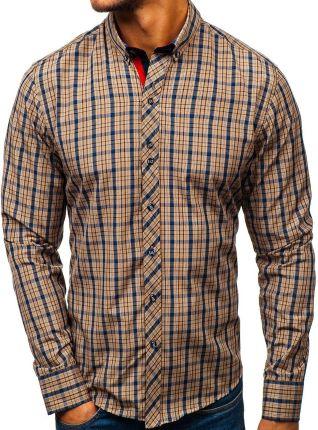 Koszula męska flanelowa z długim rękawem czarno biała Denley  L6KQ0