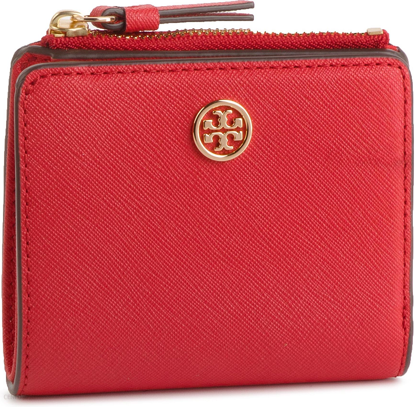 7110be9380738 Mały Portfel Damski TORY BURCH - Robbinson Mini Wallet 54449 Brilliant Red  612 - zdjęcie 1