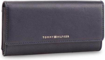ef950d9cadf08 Duży Portfel Damski TOMMY HILFIGER - Classic Leather Lrg Za W Flap  AW0AW06895 413 eobuwie