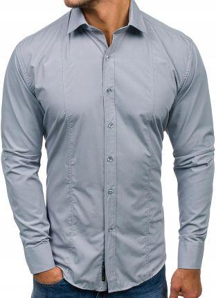 c6495a1c Jasnozielona koszula męska elegancka z długim rękawem Bolf 1703-2 ...